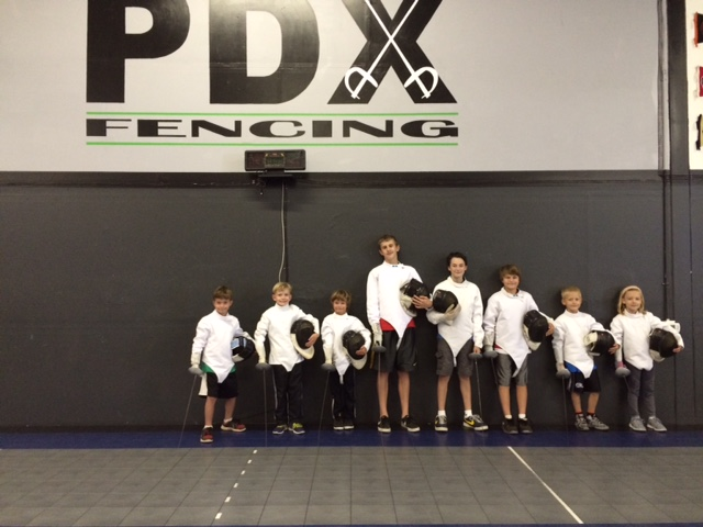photo of scout group fencing