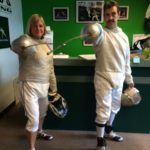 photo of adult fencers